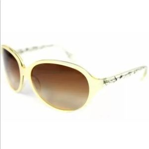 Betsey Johnson Sunglasses Square Clear Yellow